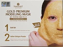 Fragrances, Perfumes, Cosmetics Facial Peel-Off Mask - Shangpree Gold Premium Plus Modeling Mask (gel/5x50g + powder/5x4,5g)