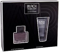 Fragrances, Perfumes, Cosmetics Antonio Banderas Seduction in Black - Set (edt/50ml + a/sh/b/50ml)