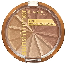 Fragrances, Perfumes, Cosmetics Face Powder - Rimmel Sunshimmer 3in1 Shimmering Bronzing Powder