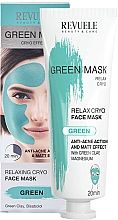 Fragrances, Perfumes, Cosmetics Face Mask - Revuele Anti-Acne Green Face Mask Cryo Effect