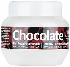 Fragrances, Perfumes, Cosmetics Dry & Damaged Hair Mask - Kallos Cosmetics Chocolate Mask
