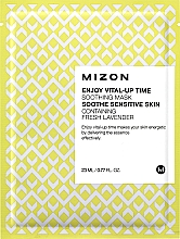 Fragrances, Perfumes, Cosmetics Firming Facial Sheet Mask - Mizon Enjoy Vital-Up Time Soothing Mask