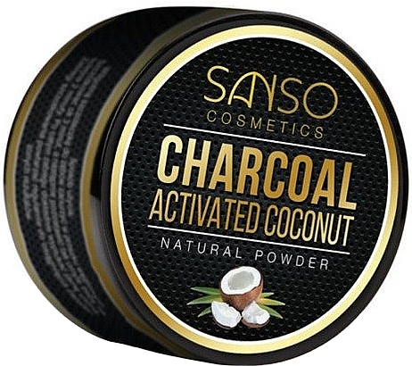 Natural Whitening Toothpowder - Sanso Cosmetics Charcoal Activated Coconut Natural Powder