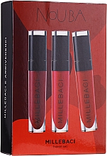 Fragrances, Perfumes, Cosmetics Set - NoUBA Millebaci Travel Set №1 (lipstick/3x6ml)