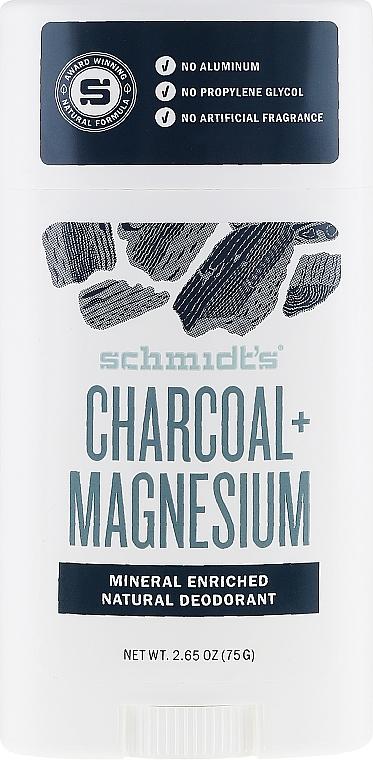 Natural Deodorant - Schmidt's Deodorant Charcoal + Magnesium Stick