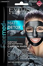 Fragrances, Perfumes, Cosmetics Cleansing Mattifying Charcoal Mask - Eveline Cosmetics Facemed+ Matt Detox Mask