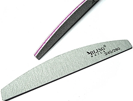 "Fragrances, Perfumes, Cosmetics Nail File ""Semicircle"", 240/280 - Bling"