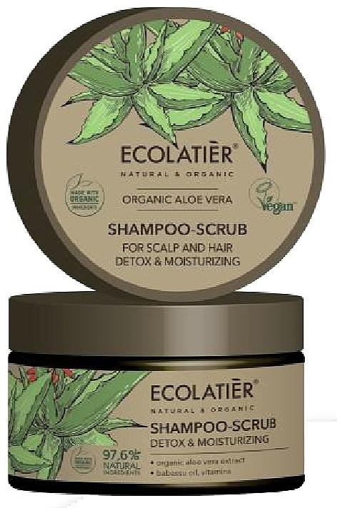 "Hair Shampoo-Scrub ""Detox & Moisturizing"" - Ecolatier Organic Aloe Vera Shampoo-Scrub"