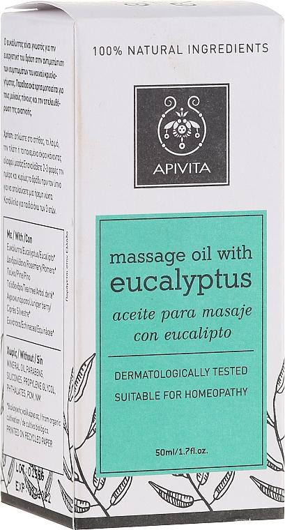Massage Eucalyptus Oil - Apivita Natural Massage Oil with Eucalyptus — photo N2