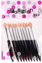 Fragrances, Perfumes, Cosmetics Eyeshadow Applicator Set, black - Fashion Cosmetic
