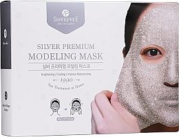 Fragrances, Perfumes, Cosmetics Facial Peel-Off Mask - Shangpree Silver Premium Modeling Mask (gel/5x50g + powder/5x4,5g)