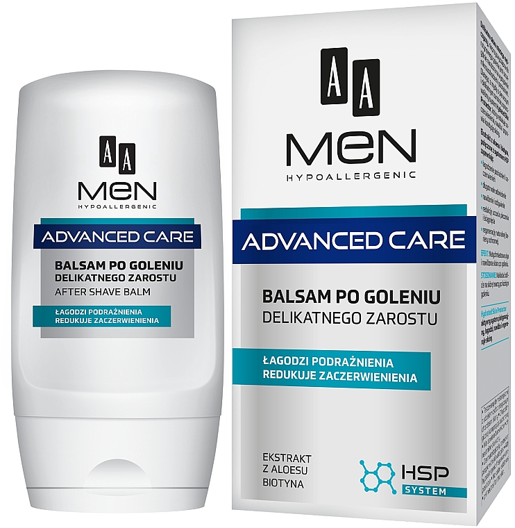 After Shave Balm for Sensitive Skin - AA Men Advanced Care After Shave Balm For Delicate Facial Hair