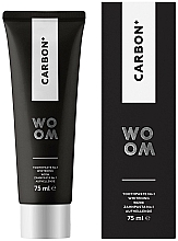 Fragrances, Perfumes, Cosmetics Whitening Charcoal Toothpaste - Woom Carbon+ Black Whitening Toothpaste
