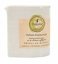 Fragrances, Perfumes, Cosmetics Green Regeneration Massage Candle - Flagolie Green Regeneration Massage Candle