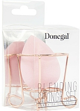 Fragrances, Perfumes, Cosmetics Makeup Sponge with Basket, pink - Donegal