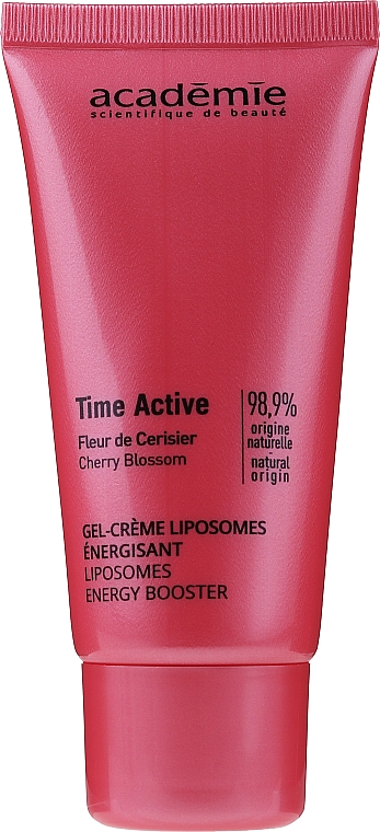 Face Gel Cream - Academie Time Active Cherry Blossom Liposomes Energy Booster — photo N1