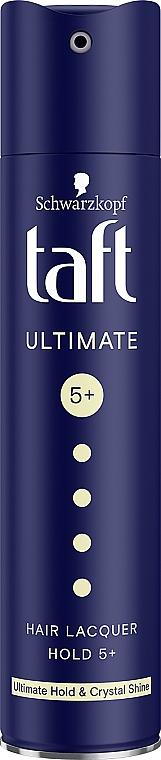 "Crystal Shine Hair Spray ""Three Weather. Ultimate Strong Hold"" - Schwarzkopf Taft Ultimate Hairspray"