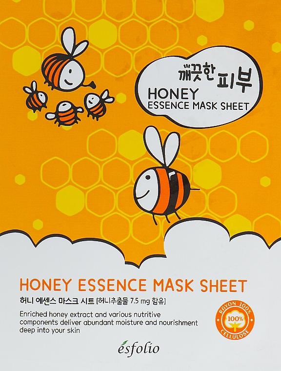 Honey Sheet Mask - Esfolio Pure Skin Essence Mask Sheet Honey