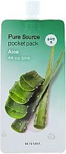Fragrances, Perfumes, Cosmetics Aloe Vera Night Mask - Missha Pure Source Pocket Pack Aloe