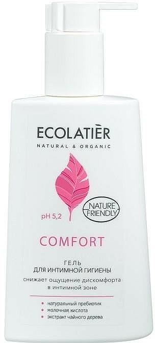 Intimate Wash Gel with Lactic Acid & Probiotic - Ecolatier Comfort