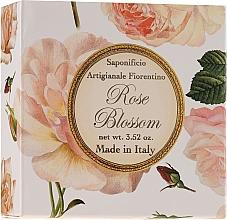 """Fragrances, Perfumes, Cosmetics Natural Soap """"Rose"""" - Saponificio Artigianale Fiorentino Rose Blossom Soap"""