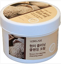 Fragrances, Perfumes, Cosmetics Cleansing Brown Rice Cream - Lebelage Brown Rice Cleaning Cleansing Cream