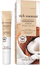 Fragrances, Perfumes, Cosmetics Ultra-Rich Coconut Eye Cream - Eveline Cosmetics Rich Coconut Eye Cream