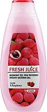 "Fragrances, Perfumes, Cosmetics Shower Cream-Gel ""Litchi and & Raspberry"" - Fresh Juice Creamy Shower Gel Litchi & Raspberry"