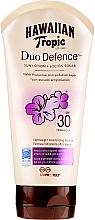 Fragrances, Perfumes, Cosmetics Sun Lotion for Body - Hawaiian Tropic Duo Defence Sun Lotion SPF30