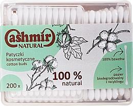 Fragrances, Perfumes, Cosmetics Cotton Buds, 200 pcs - Cashmir Natural Cotton Buds (in box)