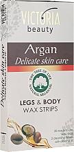 Fragrances, Perfumes, Cosmetics Body & Legs Depilatory Strips with Argan Oil - Victoria Beauty Delicate Skin Care Legs & Body Waxing Strips Argan