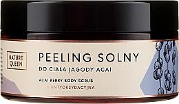 "Fragrances, Perfumes, Cosmetics Body Salt Scrub ""Acai Berries"" - Nature Queen Body Scrub"
