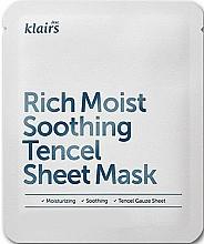 Fragrances, Perfumes, Cosmetics Moisturizing Sheet Mask - Klairs Rich Moist Soothing Tencel Sheet Mask