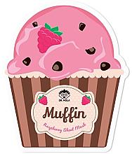 Fragrances, Perfumes, Cosmetics Facial Sheet Mask - Dr. Mola Muffin Raspberry Sheet Mask