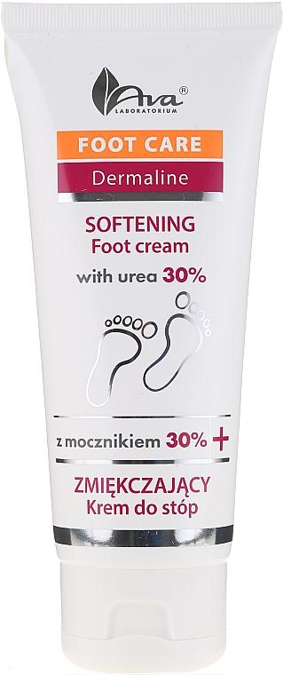 Softening Foot Cream with Urea 30% - Ava Laboratorium Foot Care Dermaline Softening Foot Cream With Urea 30%