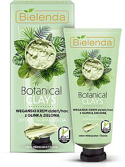 Green Clay Face Cream - Bielenda Botanical Clays Vegan Day Night Cream Green Clay