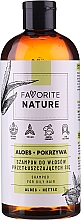 Fragrances, Perfumes, Cosmetics Aloe & Nettle Shampoo for Oily Hair - Favorite Nature Shampoo For Oily Hair Aloes & Nettle