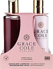 Fragrances, Perfumes, Cosmetics Set - Grace Cole Warm Vanilla & Sandalwood (sh/gel/300ml + b/lot/300ml)