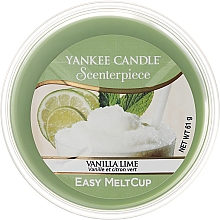 Fragrances, Perfumes, Cosmetics Scented Wax - Yankee Candle Vanilla Lime Scenterpiece Melt Cup