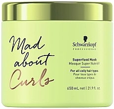 Mask for Very Curly Hair - Schwarzkopf Professional Mad About Curls Superfood Mask — photo N2