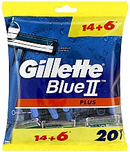 Fragrances, Perfumes, Cosmetics Disposable Shaving Razor Set, 14+6 pcs - Gillette Blue II
