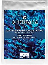 Fragrances, Perfumes, Cosmetics Face Mask - Orientana Silk Cloth Face Mask Philippine Seaweed & Aloe