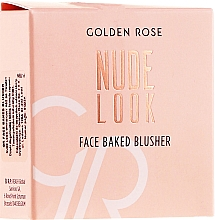 Fragrances, Perfumes, Cosmetics Face Blush - Golden Rose Nude Look Face Baked Blusher
