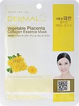 Fragrances, Perfumes, Cosmetics Collagen and Aminoacids Mask - Dermal Vegetable Placenta Collagen Essence Mask