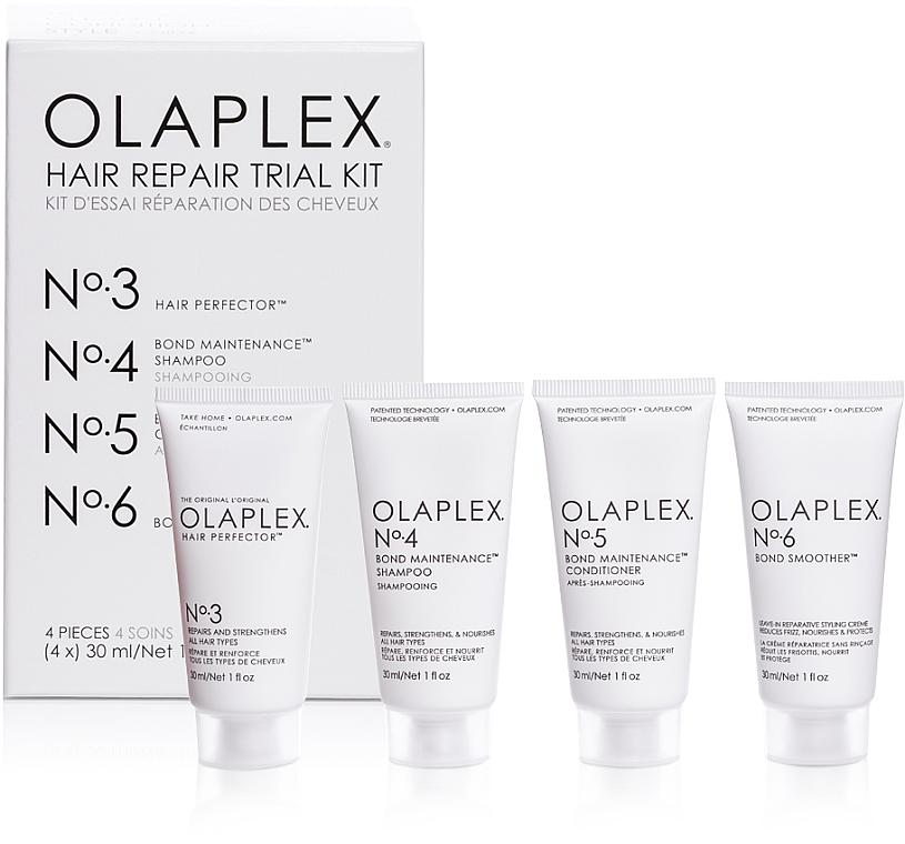 Hair Repair Kit - Olaplex Hair Repair Trial Kit (shm/30ml + con/30ml + elixir/30ml + h/cr/30ml)