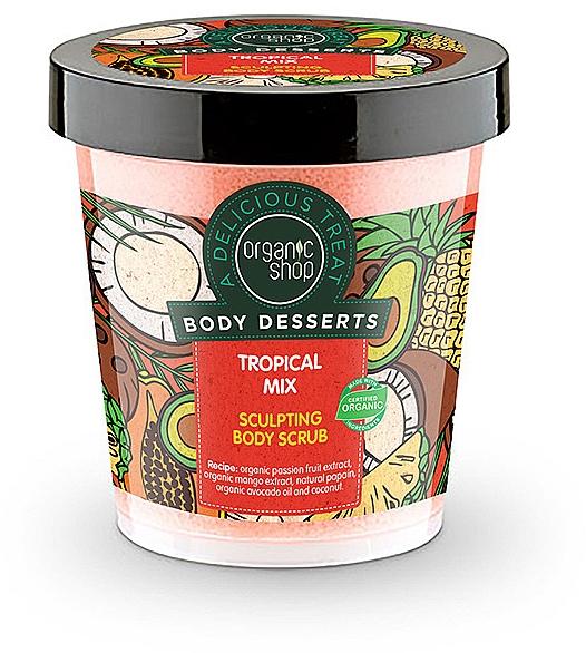 Anticellulite Body Scrub - Organic Shop Body Desserts Tropical mix — photo N1