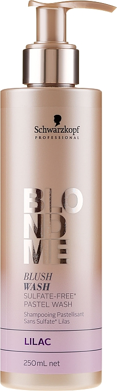 """Sulfate-Free Moisturizing Shampoo """"Lilac"""" - Schwarzkopf Professional Blond Me Blush Wash Lilac"""