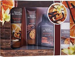 Fragrances, Perfumes, Cosmetics Set - Nature de Marseille Orange And Vanilla Cosmetics Set (sh/gel/150ml + h/cr/60ml + b/balm/100ml + soap/95g)