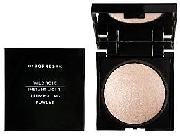 Fragrances, Perfumes, Cosmetics Face Powder - Korres Wild Rose Instant Light Illuminaring Power