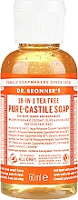 "Fragrances, Perfumes, Cosmetics Liquid Soap ""Tea Tree"" - Dr. Bronner's 18-in-1 Pure Castile Soap Tea Tree"